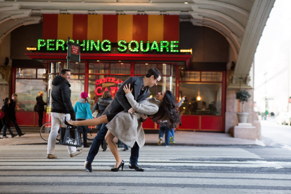 Engagement Shoot in Grand Central, Pershing Square, New York Public Library, Bryant Park