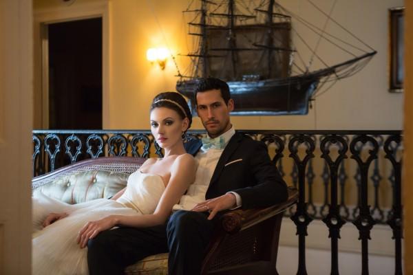 Nautical Wedding Photoshoot at India House, New york