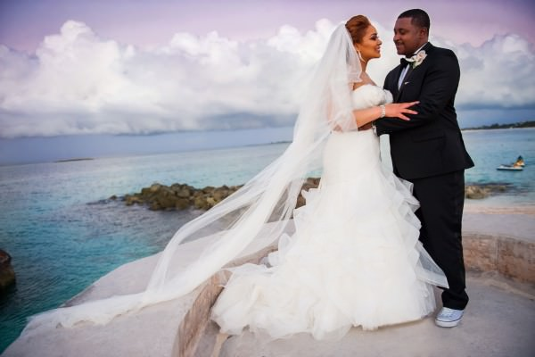 Nefitieri and Kenji, Destination Wedding at the Atlantis Hotel, Bahamas