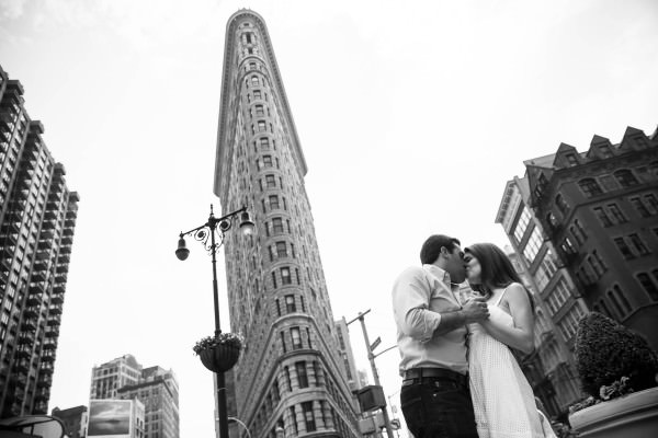 Amy and Justin, Chelsea, Flatiron, Madison Square Park Engagement Shoot