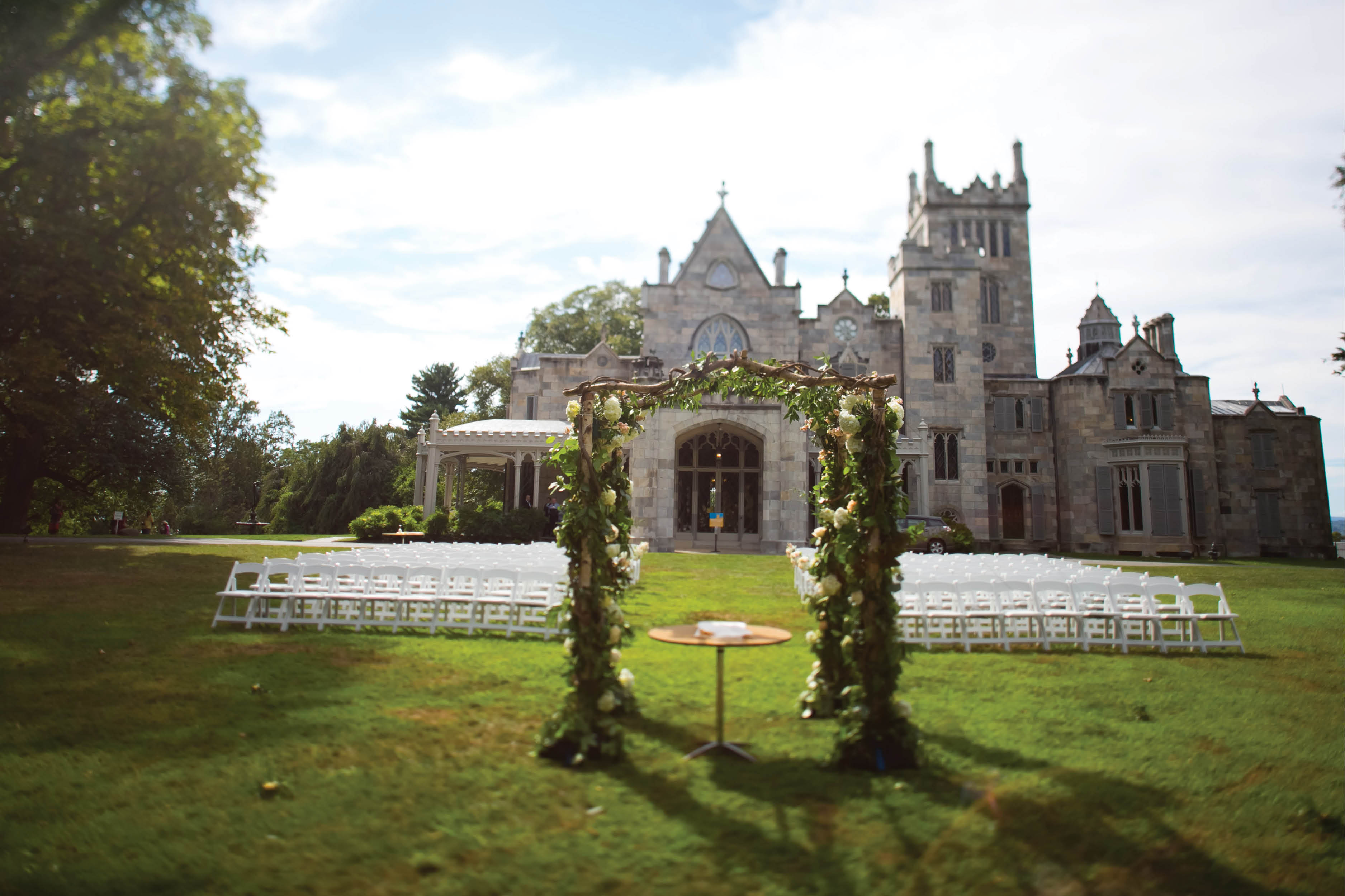 Majestic Castle Wedding s at Lyndhurst Castle in New York