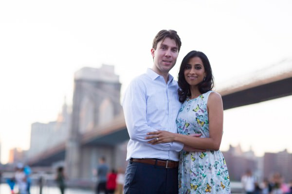 Susmitha and Kevin, Summer Engagement Shoot in Dumbo, Brooklyn