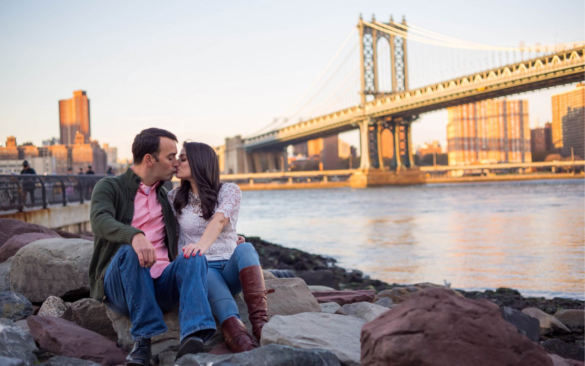 Melissa and Kaveh, Dumbo Engagement shoot NYC