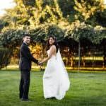 Flower field wedding photography